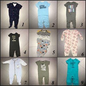 ‼️SALE‼️ 13 pieces baby onesie & one piece
